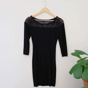 Express Black Sweater Dress